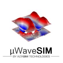 μWaveSIM App logo